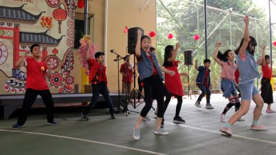 Enjoying performance from Dance Group Grade 5 and 6